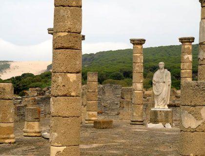 trajano en baelo claudia, ruinas romanas de bolonia
