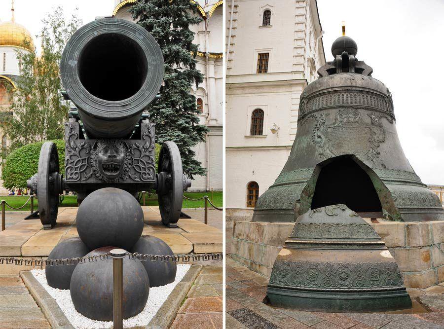 canon zar, campana zarina, cosas que ver en moscu