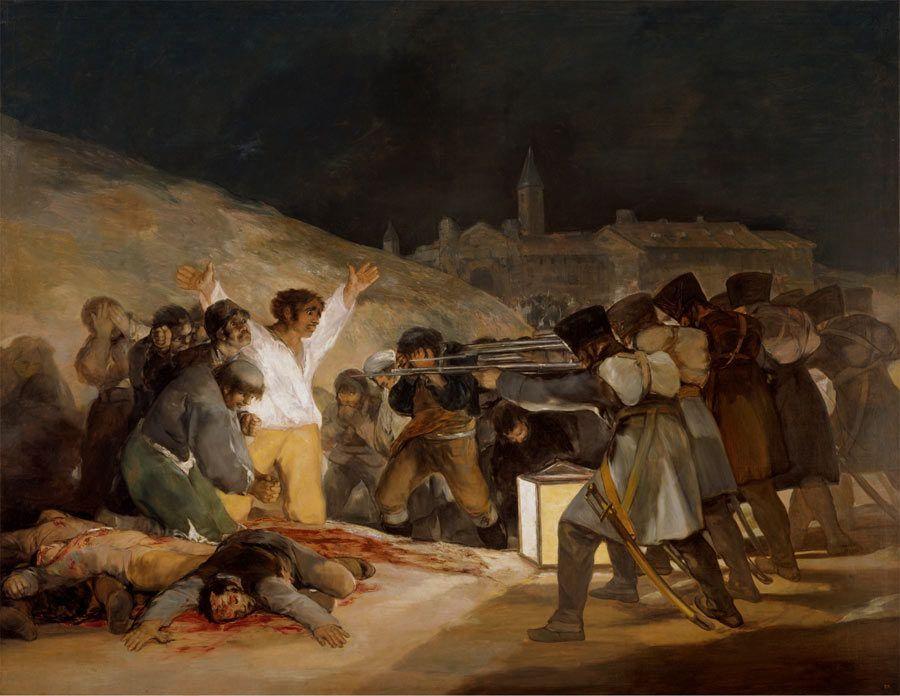 los fusilamientos del 3 de mayo, pintura de goya, museo del prado