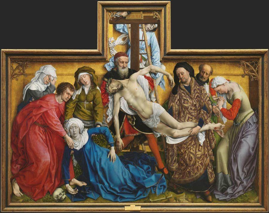 el descendimiento, obra de van der weiden, museo del prado