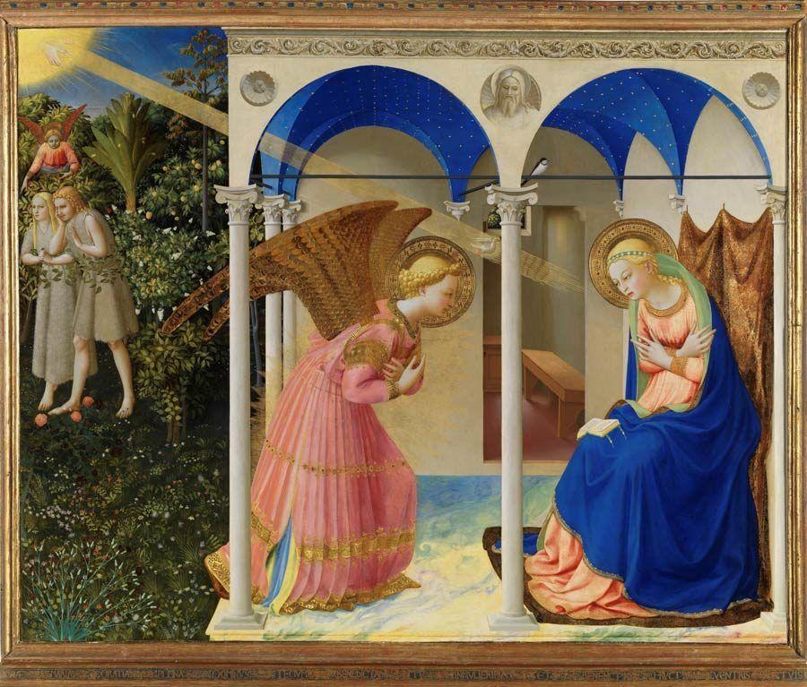 La anunciacion, fra angelico, obras del museo del prado