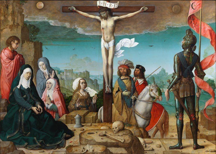 La Cruxifixión, pintado por Juan de Flandes, obra imprescindible en el Museo del Prado.