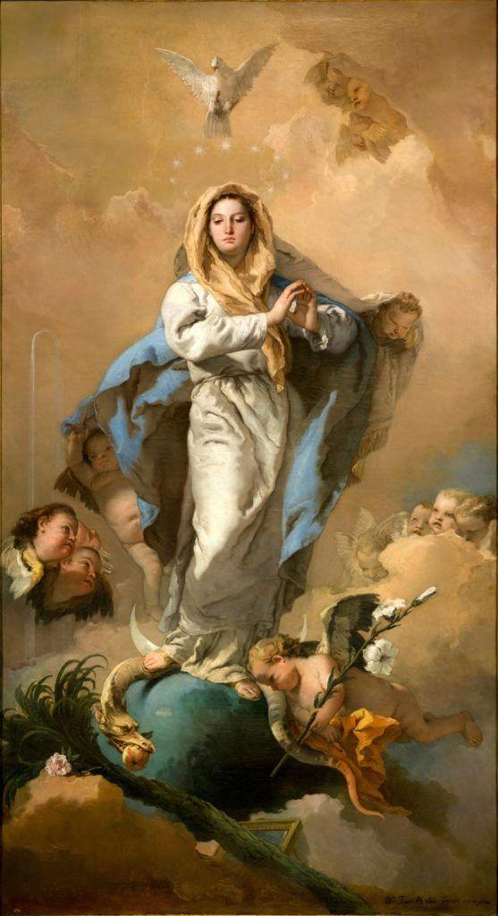 la inmaculada concepcion, museo del prado, obras de tiepolo