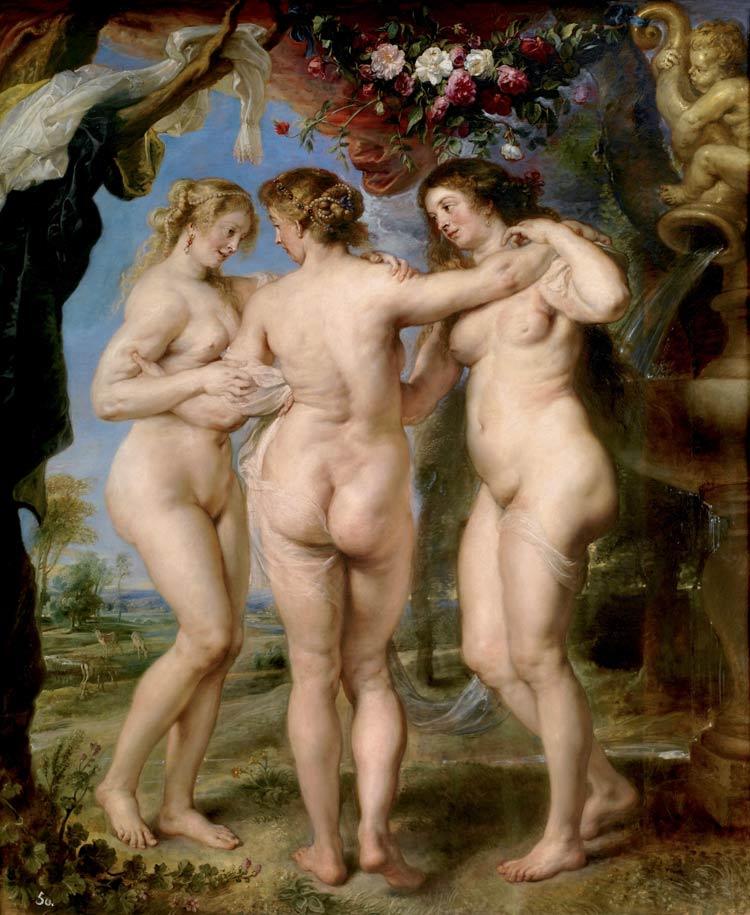 Las tres gracias, obras de Rubens, que ver museo del prado