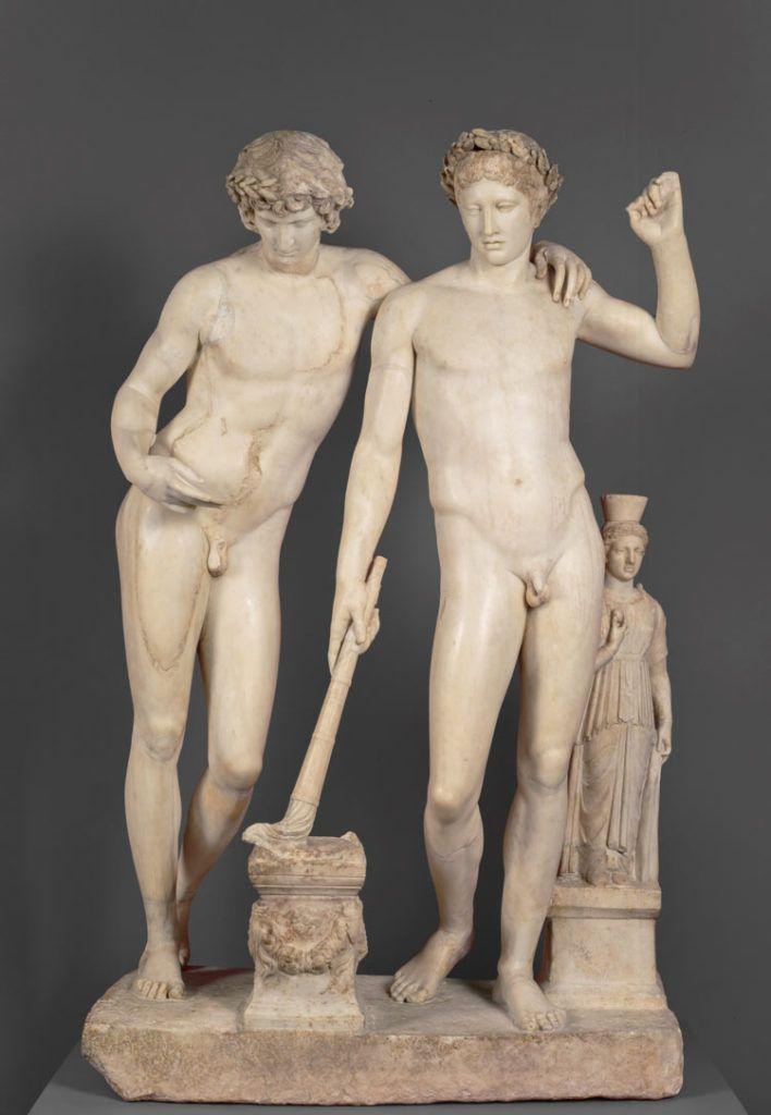 Orestes y Pilades, Escuela de Pasiteles, escultura en el museo del prado