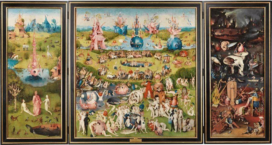 triptico del jardin de las delicias, pinturas del bosco, museo del prado
