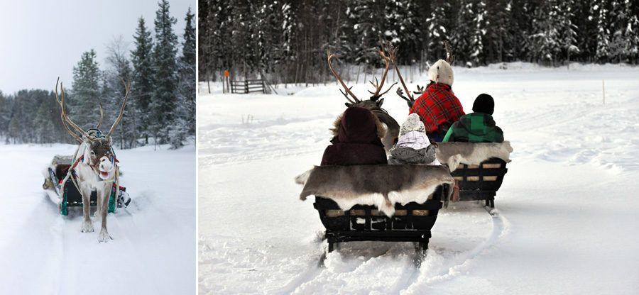 viajes a la nieve, viajar a Finlandia, Laponia en familia