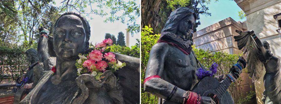 tumba lola flores, tumba antonio flores, ruta cementerio almudena