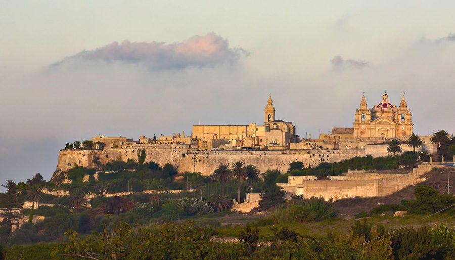 vista de mdina en la isla de malta