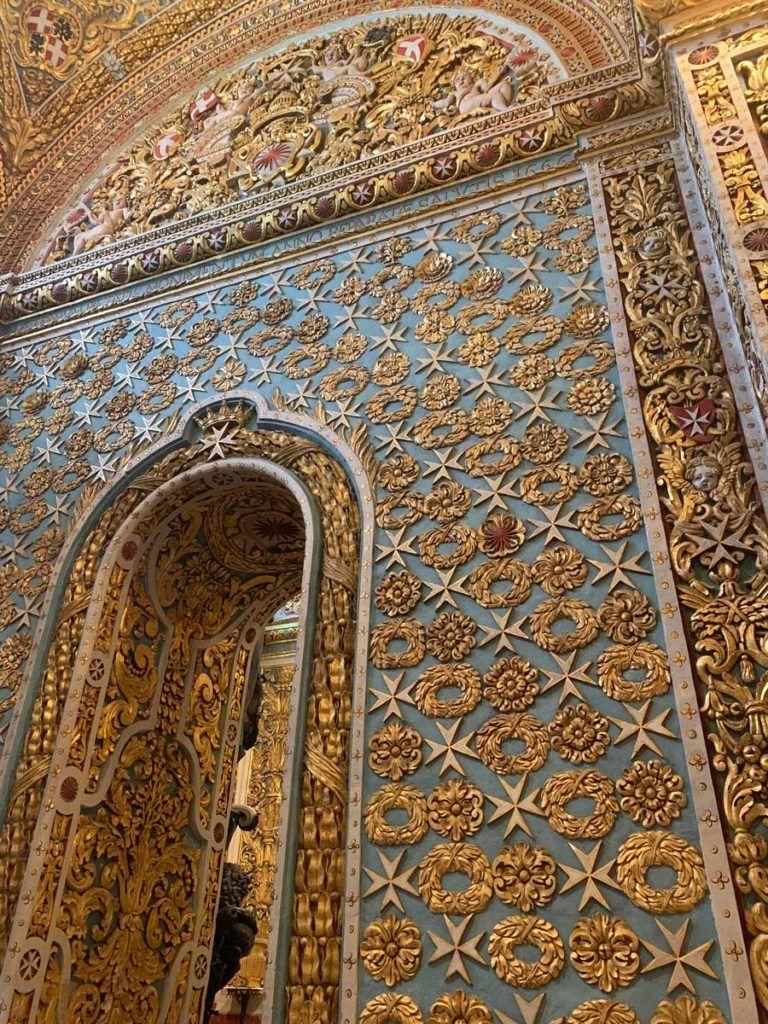 detalle de la catedral de san juan en malta