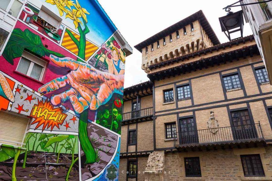 ruta grafitis en Vitoria