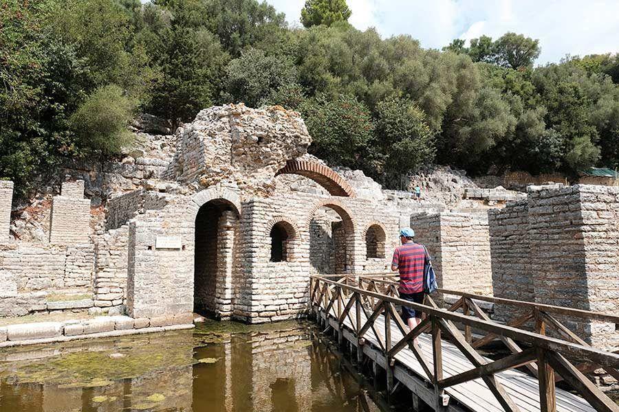 teatro butrinto, viaje albania