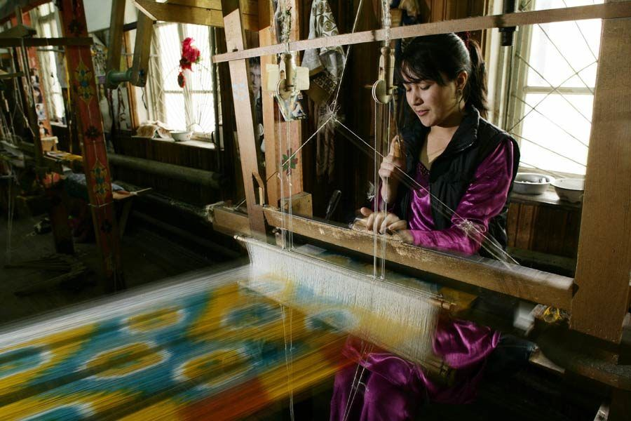 Yodgorlik Silk Factory, ruta seda uzbekistan