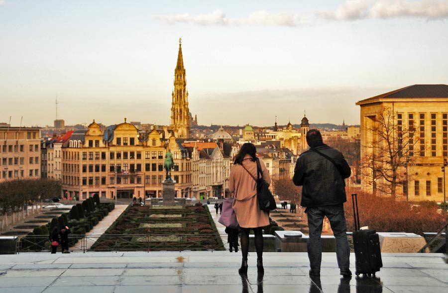 vista panoramica de bruselas, viajes