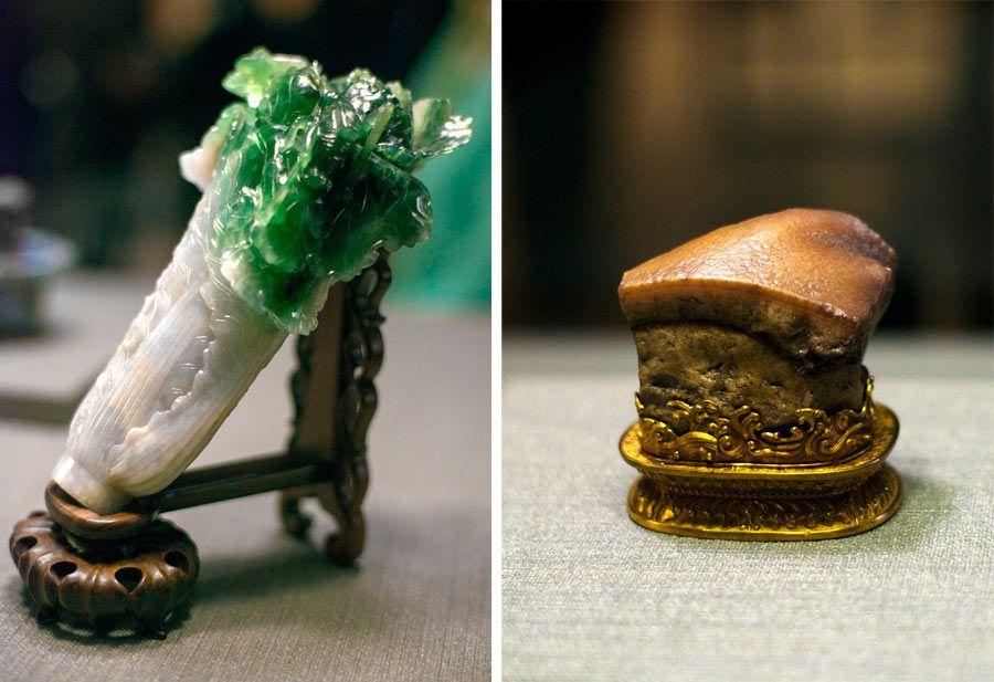 col de jadeita y agata con forma de carne de cerdo