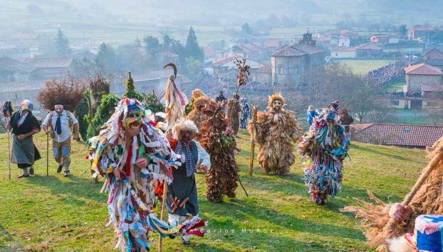 la vijanera, carnaval de cantabria, primer carnaval de europa