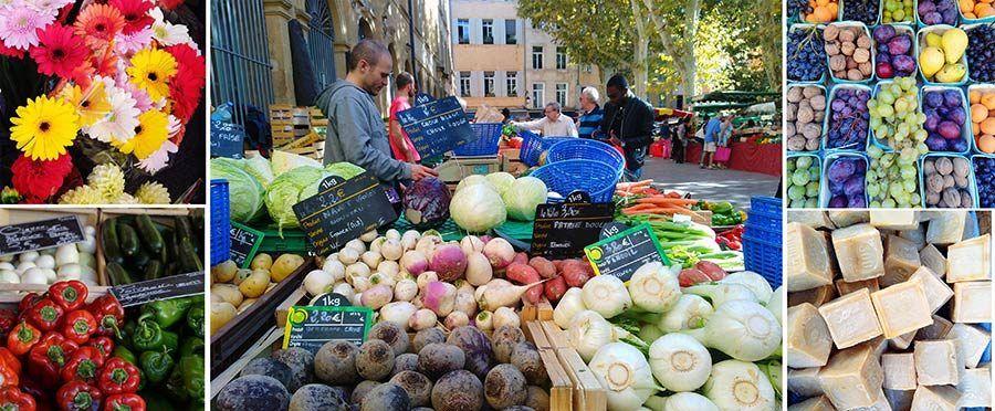 mercados en aix en provence, ruta cezanne, escapada francia