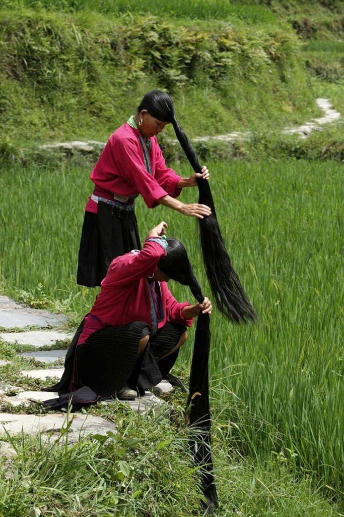 mujeres yao en guangxi, viaje a china
