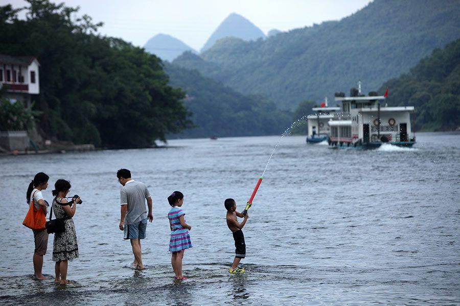 rio le, xing ping, guangxi, viaje china