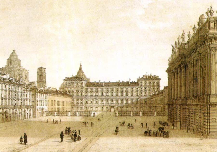 piazza castello siglo XIX