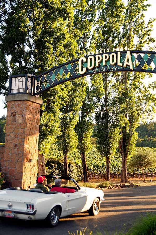 bodega francis ford coppola, enoturismo en california