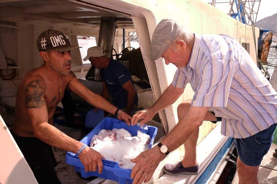 pescadores puerto almeria, visita al puerto almeria