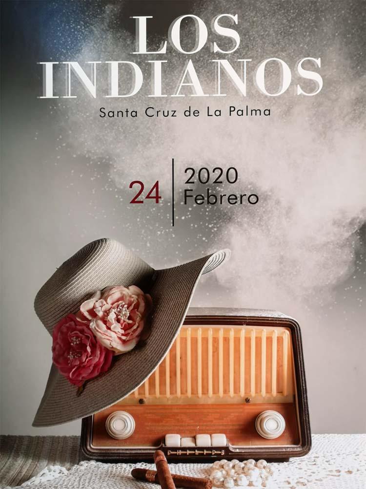 cartel indianos 2020, cartel carnaval la palma