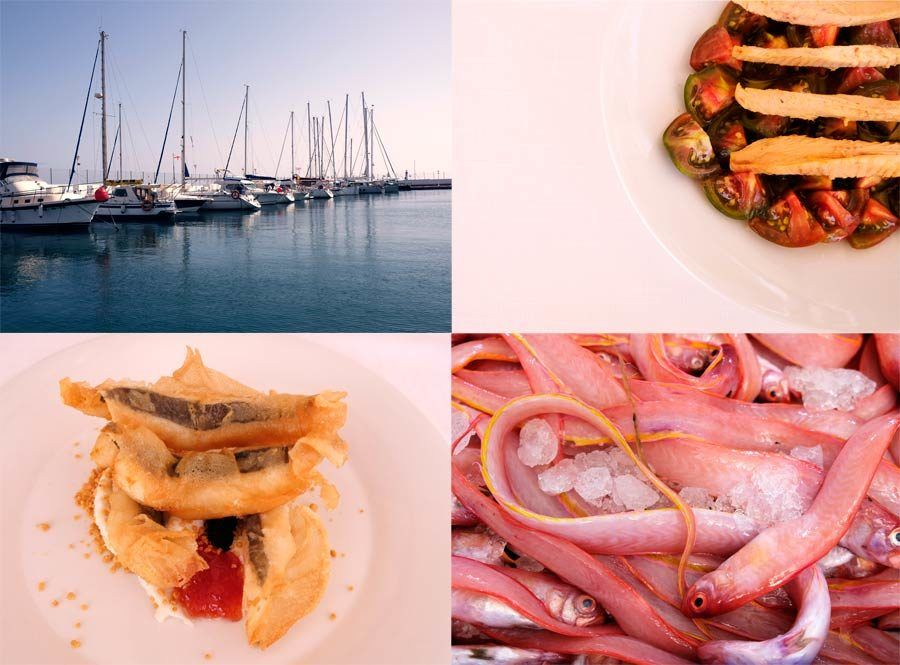 bares de tapas, puerto, pescado frito, tomates raf