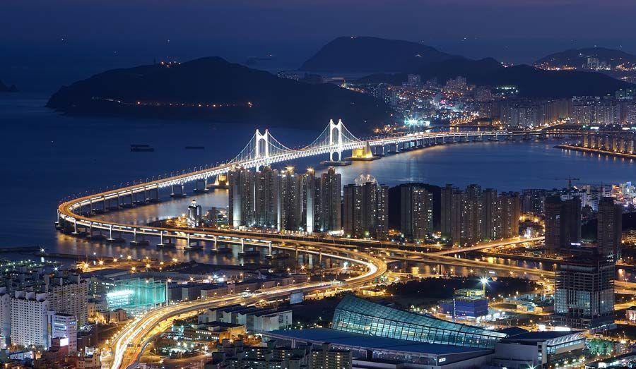 Puente Gwangandaegyo, Busan, viaje corea