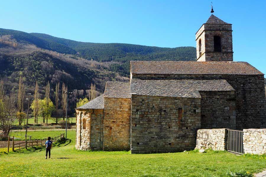iglesia sant feliu, rutas en familia, valle de boi, ruta romanico lleida
