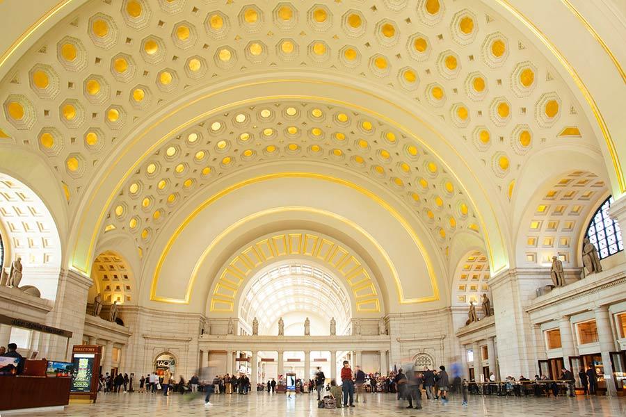 estacion tren Washington, viaje con amigas a Washington