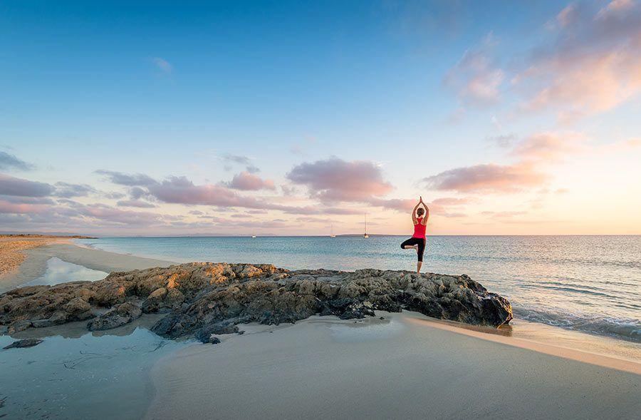 yoga formentera, guia playas formentera