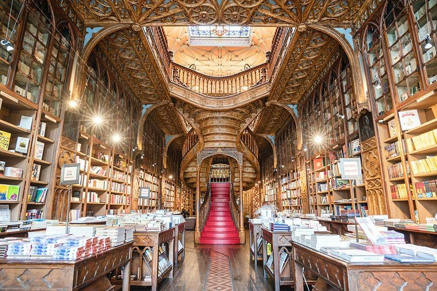 libreria lello, harry potter oporto