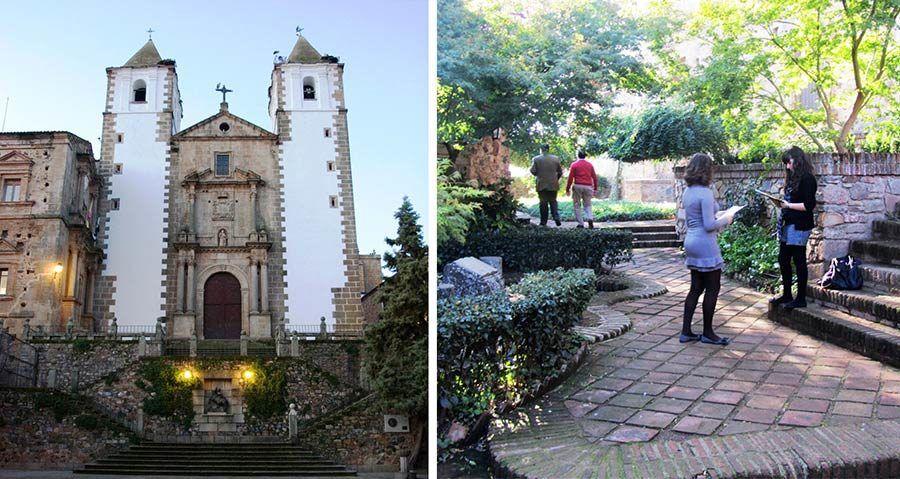 plaza san jorge, jardin de ulloa, viaje caceres, viajar sola