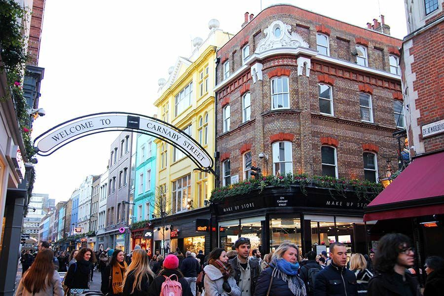carnaby street, shopping en londres