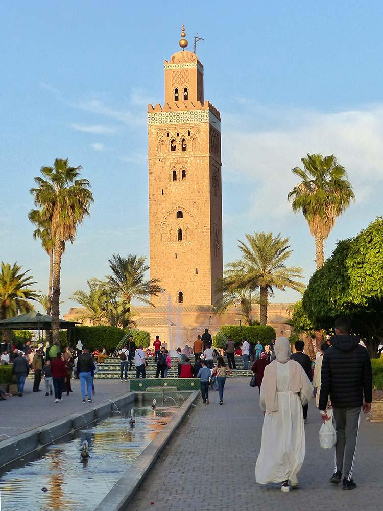 viaje mujeres marrakech, mezquita koutubia