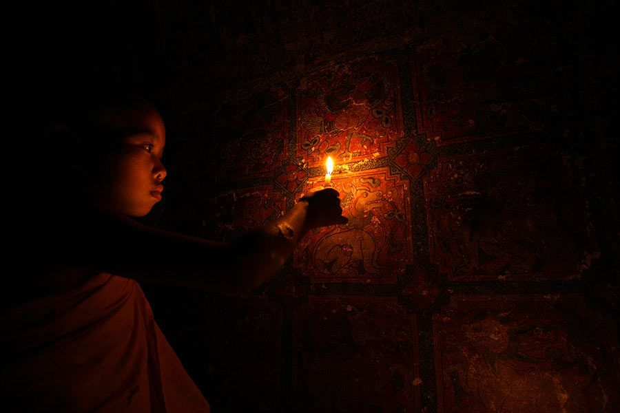 sagaing hill, budistas myanmar, birmania