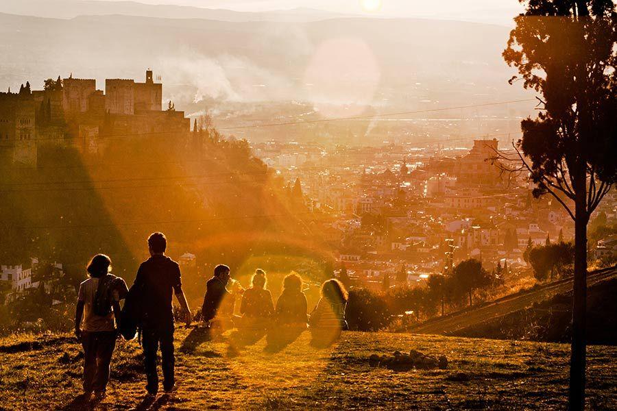 mirador sacromonte, vistas de la alhambra, atardecer alhambra, atardecer granada