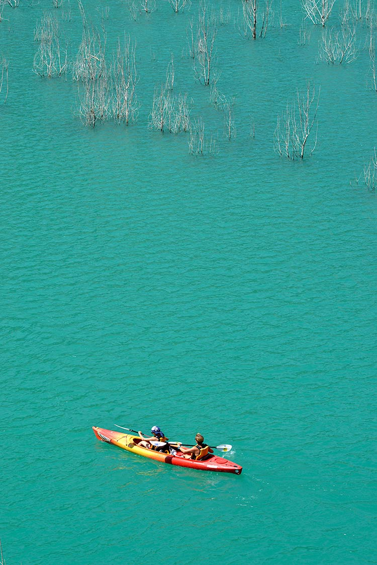montrebei, kayak en mont rebei