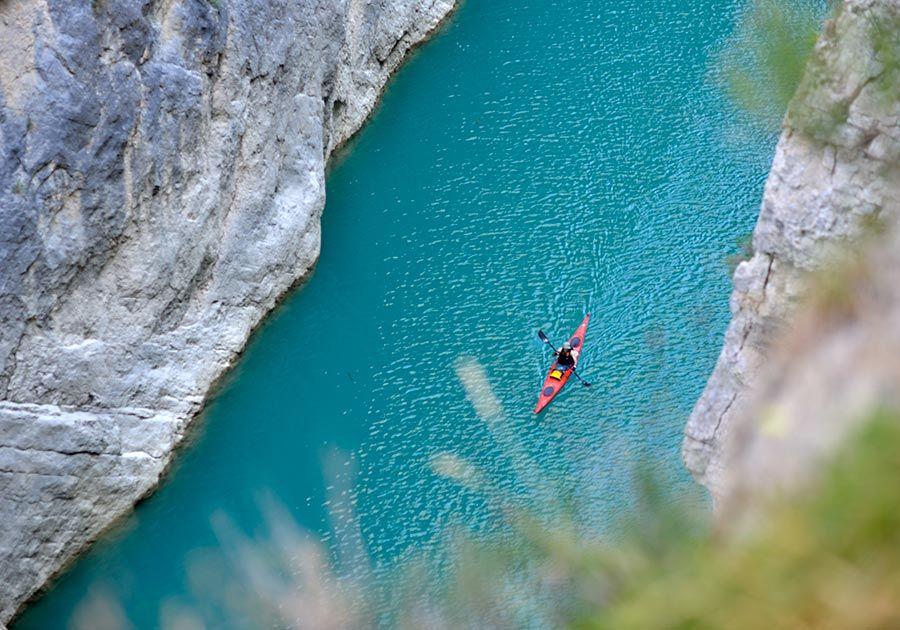 kayak en congost mont rebei