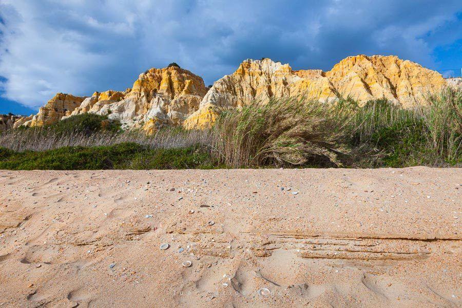 dunas fosiles, playa huelva