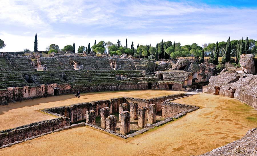 anfiteatro romano, italica, viaje sevilla, excursiones