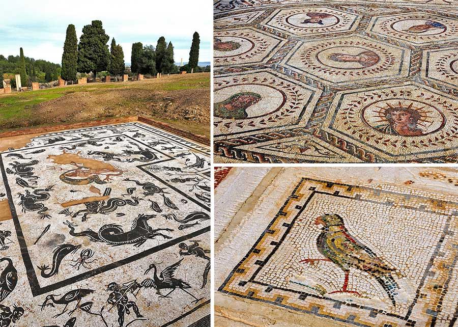 mosaicos italica, excursion sevilla
