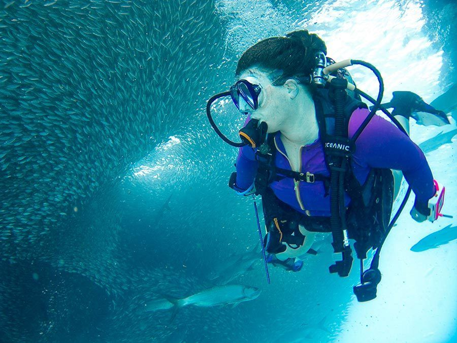buceo, submarinismo, bautizo