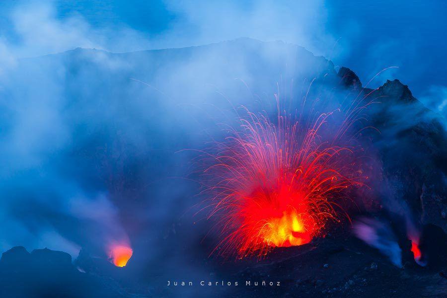 Stromboli, volcanes, islas eolias