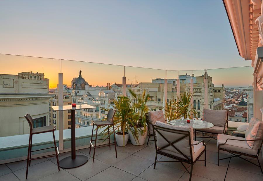 terrazas hotel, madrid con amigas