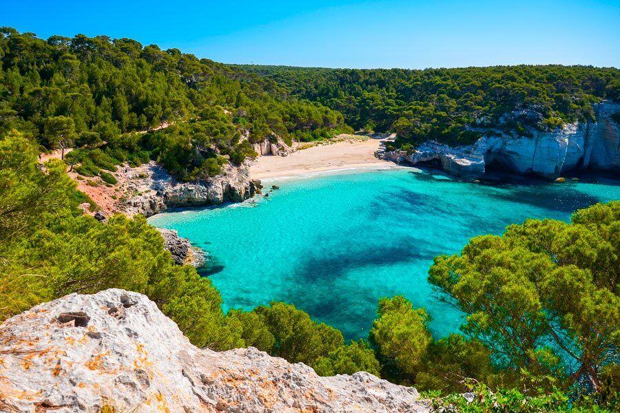 Cala Mitjana, playas, menorca, calas, viajes