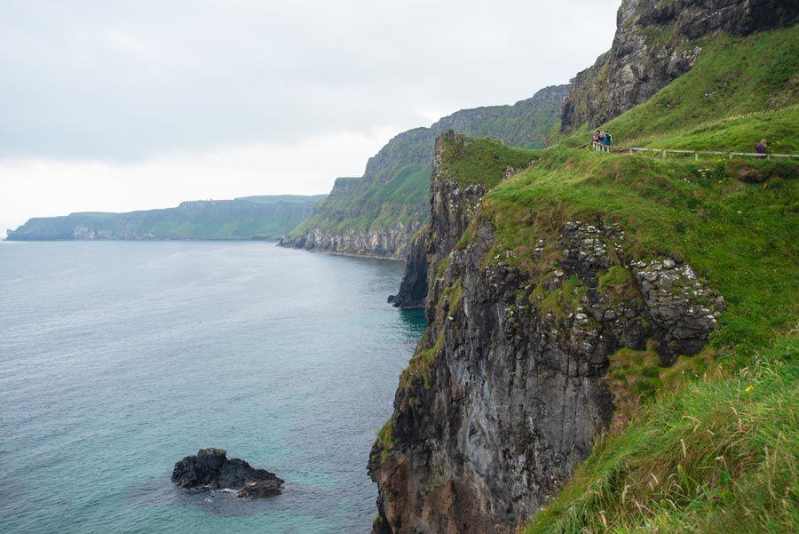puente colgante, ruta costa irlanda norte