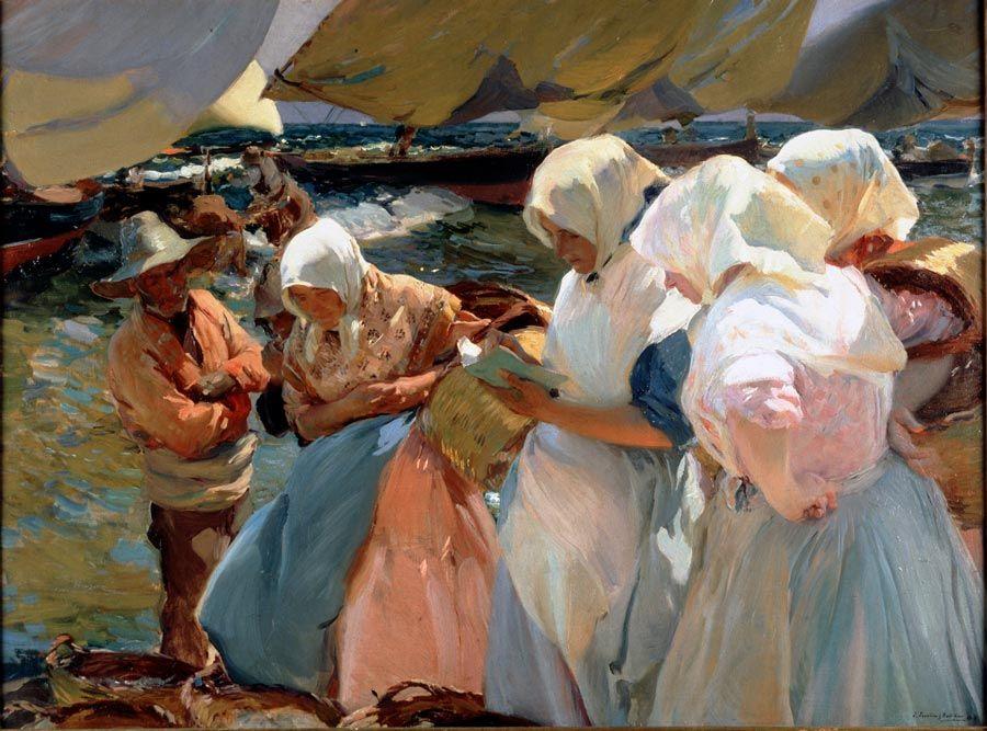 pescadoras de valencia pintadas por sorolla