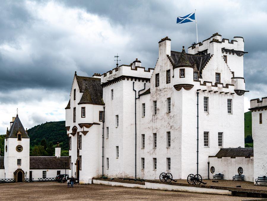 el castillo de Blair en las tierras altas de escocia